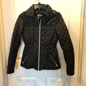 NWOT black lightweight puffer jacket XS